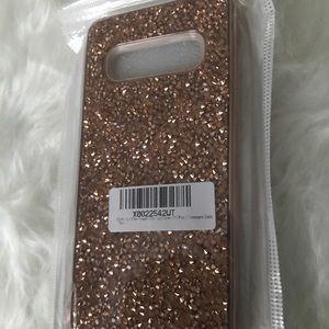 Samsung Galaxy S10 Plus Glitter Hard Rubber Case